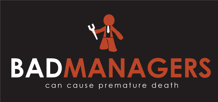 Logo Design by Private User - Entry No. 81 in the Logo Design Contest Unique Logo Design Wanted for Bad Managers Can Cause Premature Deaths.