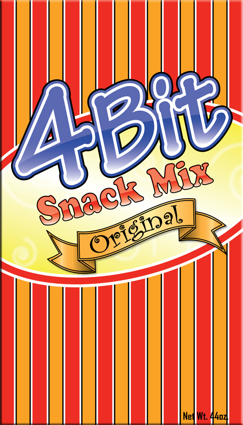 Print Design by Lefky - Entry No. 28 in the Print Design Contest Fun Print Design (LABEL) 4 BIT SAVORY SNACK MIX - ORIGINAL.