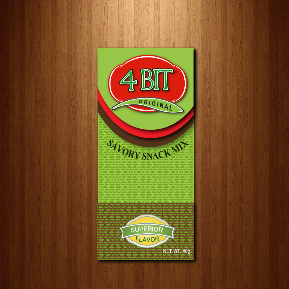 Print Design by moonflower - Entry No. 33 in the Print Design Contest Fun Print Design (LABEL) 4 BIT SAVORY SNACK MIX - ORIGINAL.