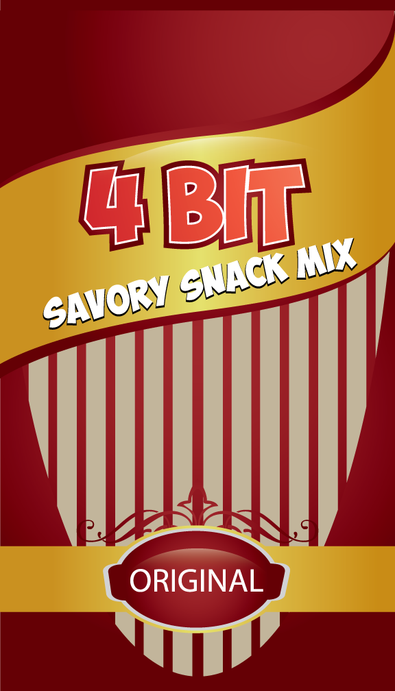 Print Design by rockin - Entry No. 34 in the Print Design Contest Fun Print Design (LABEL) 4 BIT SAVORY SNACK MIX - ORIGINAL.