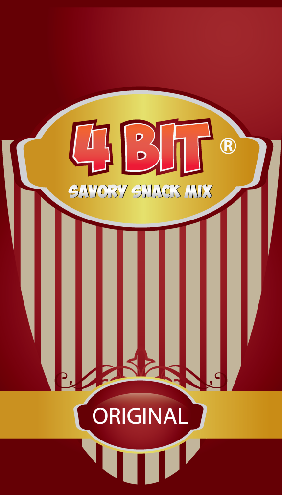 Print Design by rockin - Entry No. 37 in the Print Design Contest Fun Print Design (LABEL) 4 BIT SAVORY SNACK MIX - ORIGINAL.