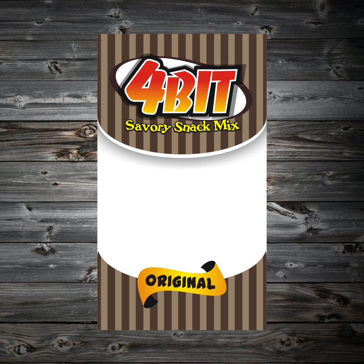 Print Design by arteo_design - Entry No. 68 in the Print Design Contest Fun Print Design (LABEL) 4 BIT SAVORY SNACK MIX - ORIGINAL.