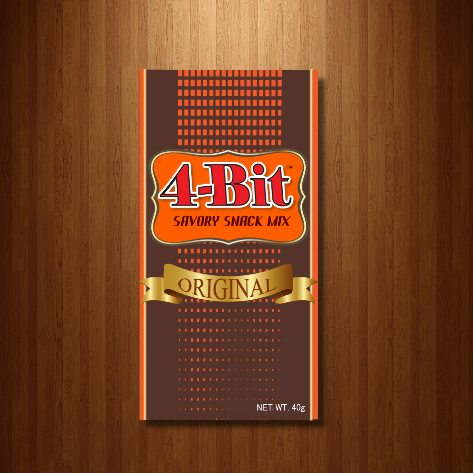 Print Design by moonflower - Entry No. 69 in the Print Design Contest Fun Print Design (LABEL) 4 BIT SAVORY SNACK MIX - ORIGINAL.