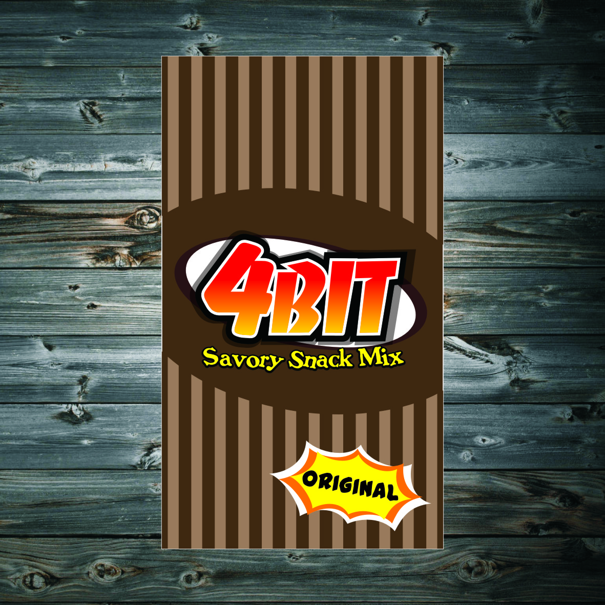 Print Design by arteo_design - Entry No. 70 in the Print Design Contest Fun Print Design (LABEL) 4 BIT SAVORY SNACK MIX - ORIGINAL.