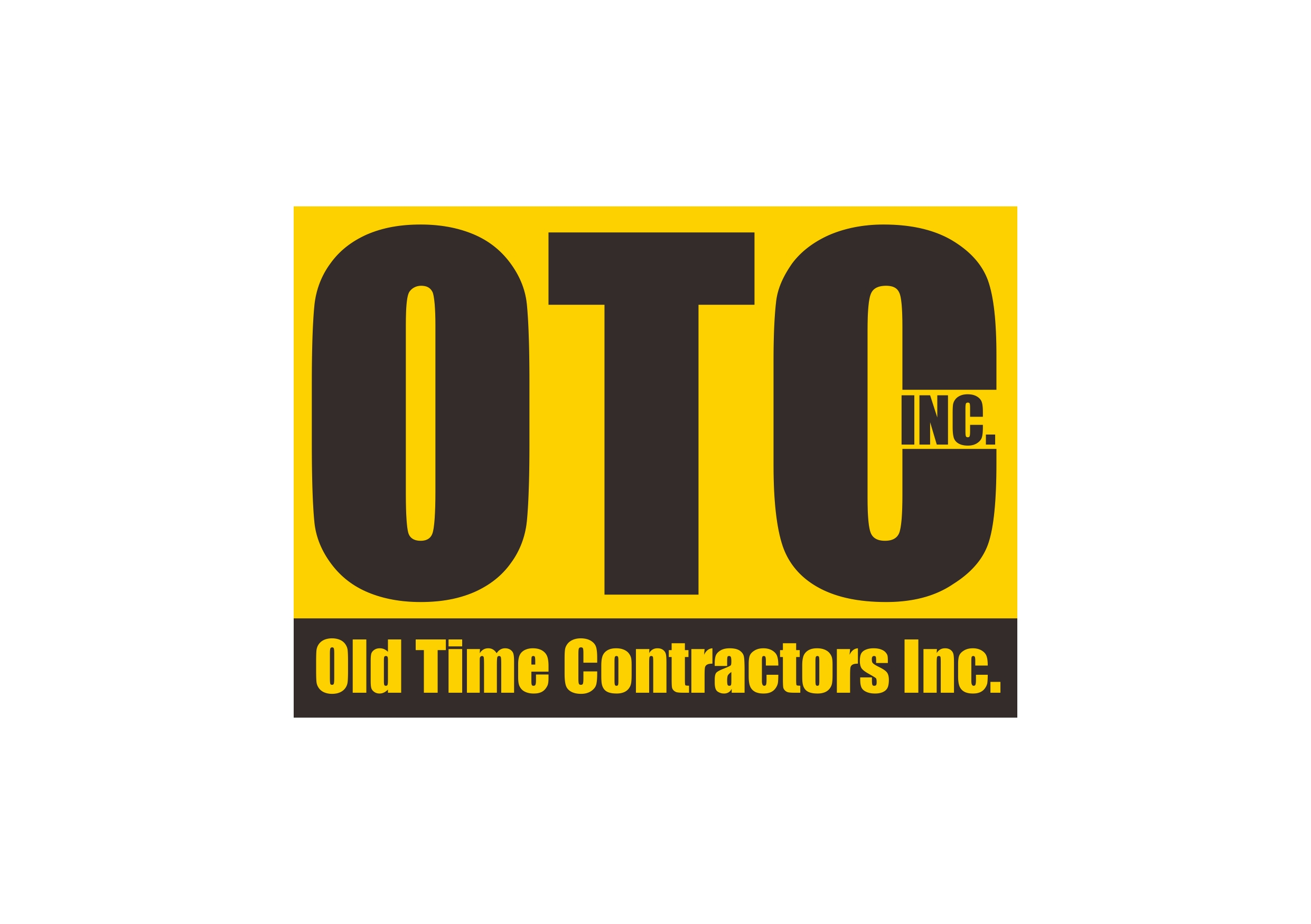 Logo Design by Teguh Mudjianto - Entry No. 1 in the Logo Design Contest Old Time Contractors, Inc. (new brand:  OTC, Inc.) Logo Design.