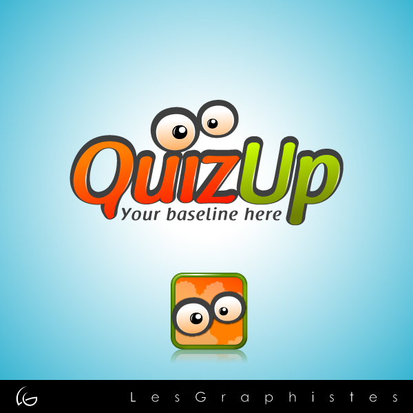 Logo Design by Les-Graphistes - Entry No. 3 in the Logo Design Contest Logo Design for QuizUp app.