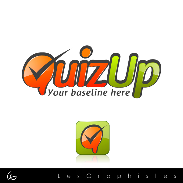 Logo Design by Les-Graphistes - Entry No. 4 in the Logo Design Contest Logo Design for QuizUp app.