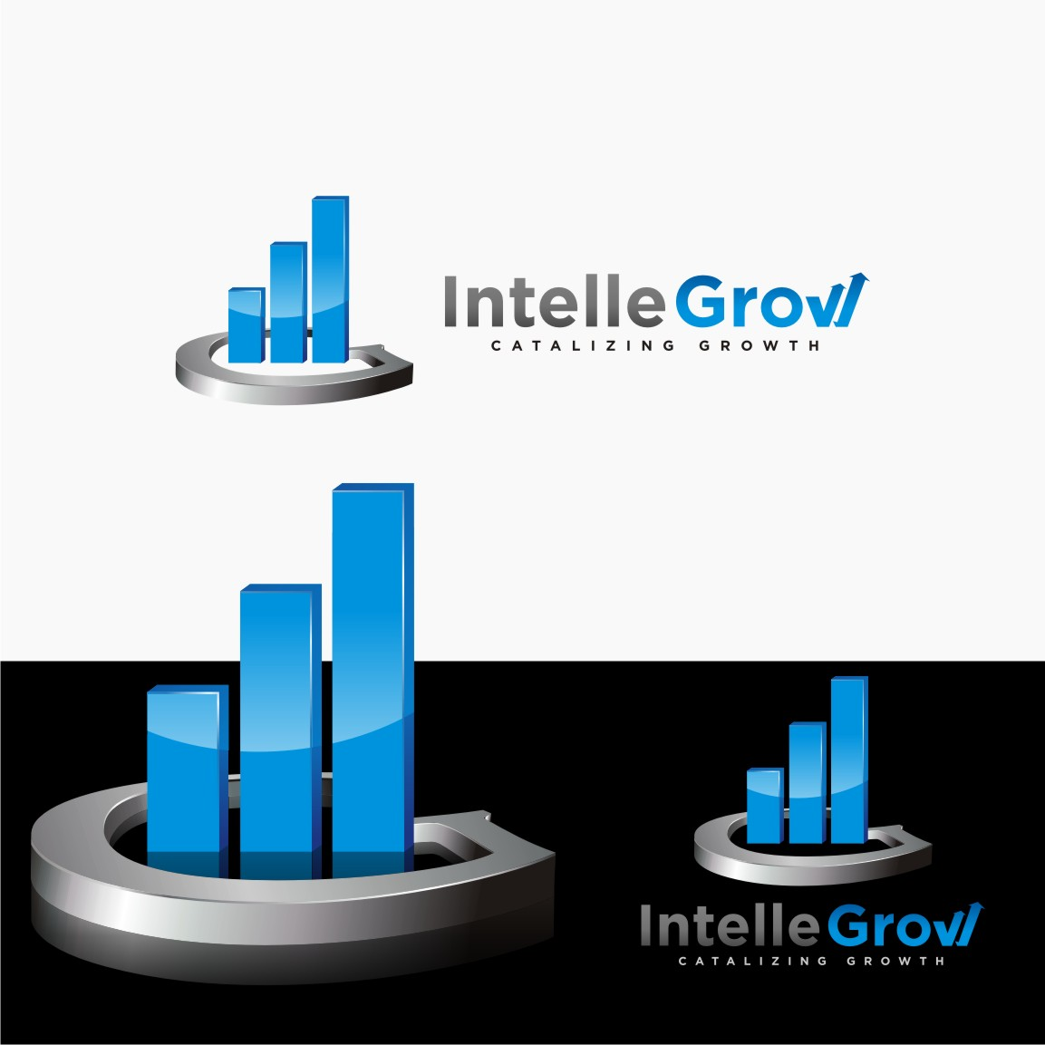 Logo Design by graphicleaf - Entry No. 124 in the Logo Design Contest Logo Design Needed for Exciting New Company IntelleGrow Finance Pvt. Ltd..