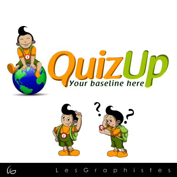 Logo Design by Les-Graphistes - Entry No. 6 in the Logo Design Contest Logo Design for QuizUp app.