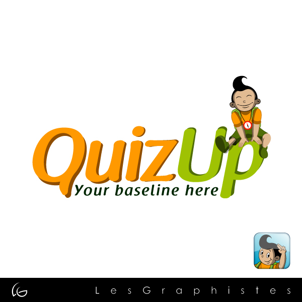Logo Design by Les-Graphistes - Entry No. 7 in the Logo Design Contest Logo Design for QuizUp app.