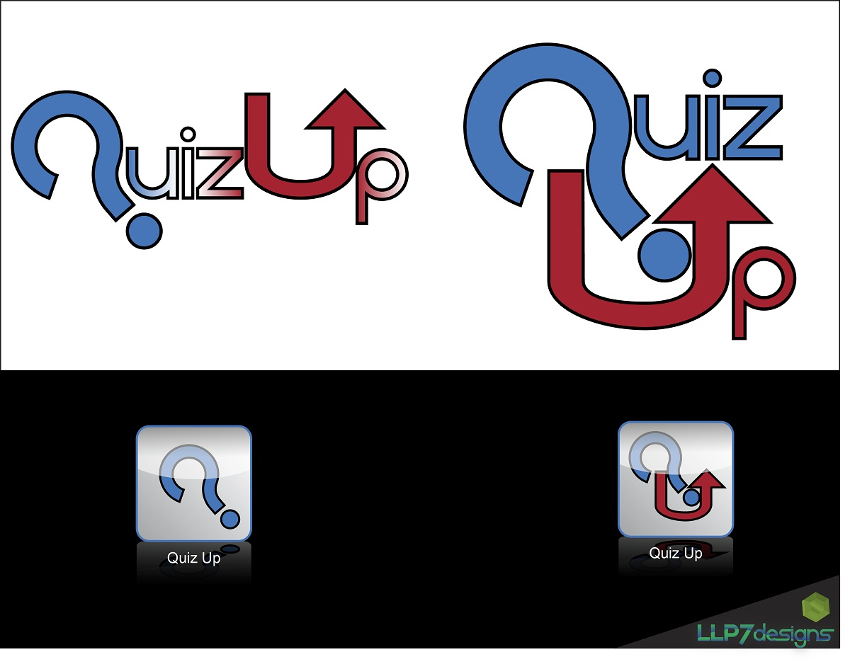 Logo Design by LLP7 - Entry No. 9 in the Logo Design Contest Logo Design for QuizUp app.