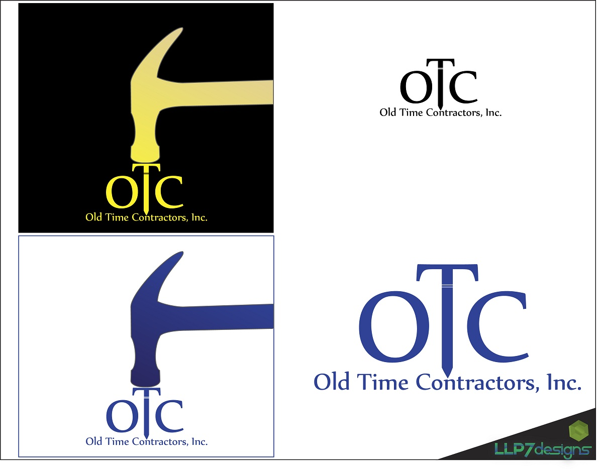 Logo Design by LLP7 - Entry No. 48 in the Logo Design Contest Old Time Contractors, Inc. (new brand:  OTC, Inc.) Logo Design.