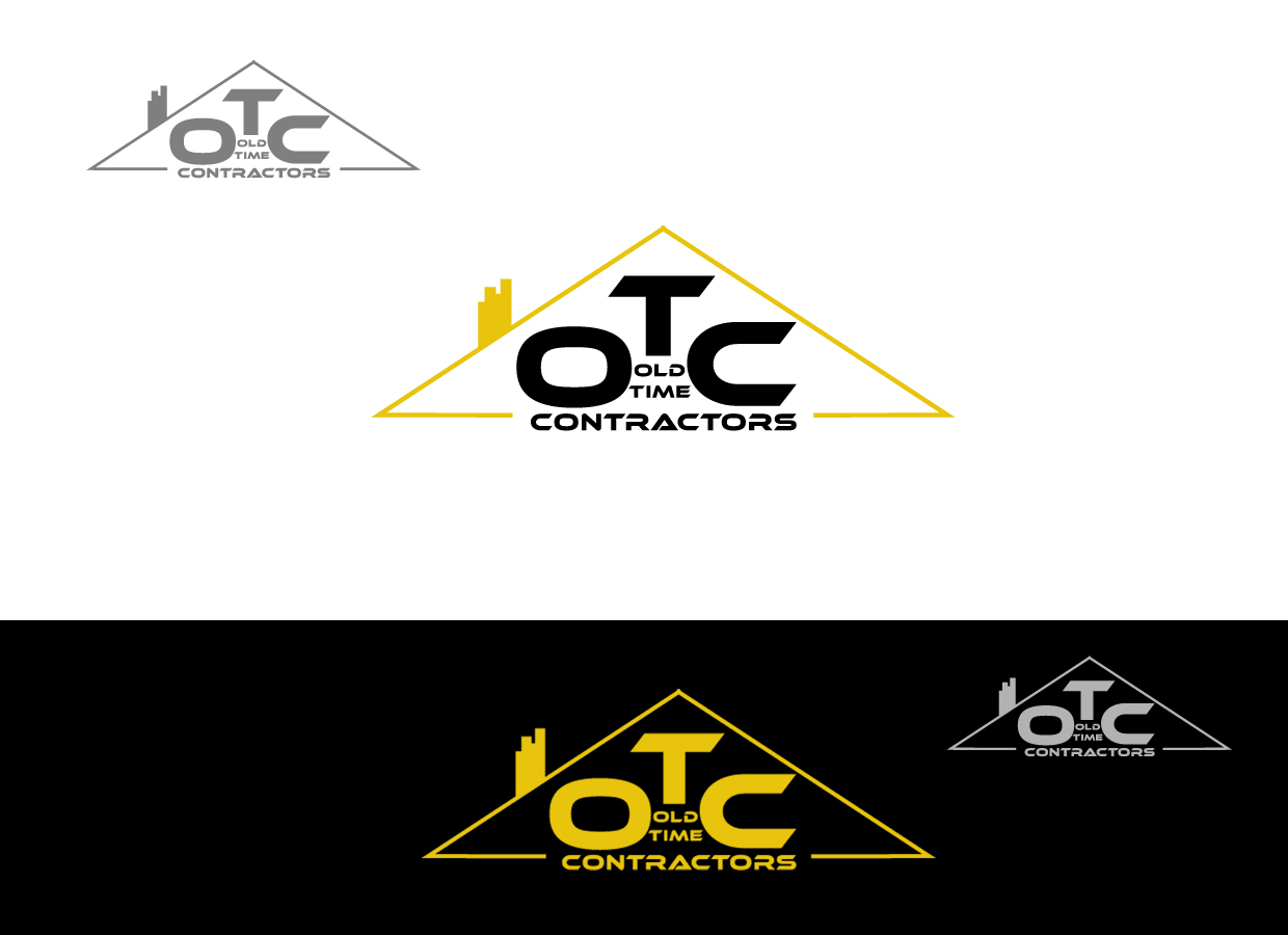 Logo Design by pixdesign - Entry No. 74 in the Logo Design Contest Old Time Contractors, Inc. (new brand:  OTC, Inc.) Logo Design.