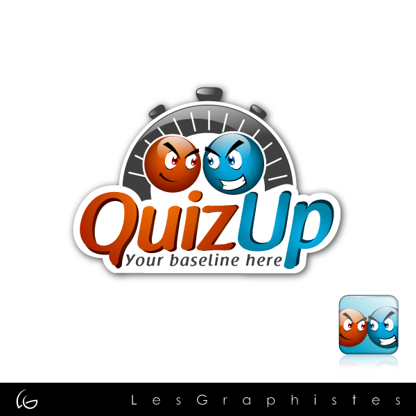 Logo Design by Les-Graphistes - Entry No. 31 in the Logo Design Contest Logo Design for QuizUp app.