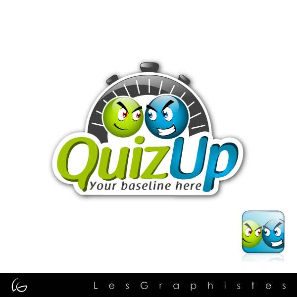Logo Design by Les-Graphistes - Entry No. 32 in the Logo Design Contest Logo Design for QuizUp app.