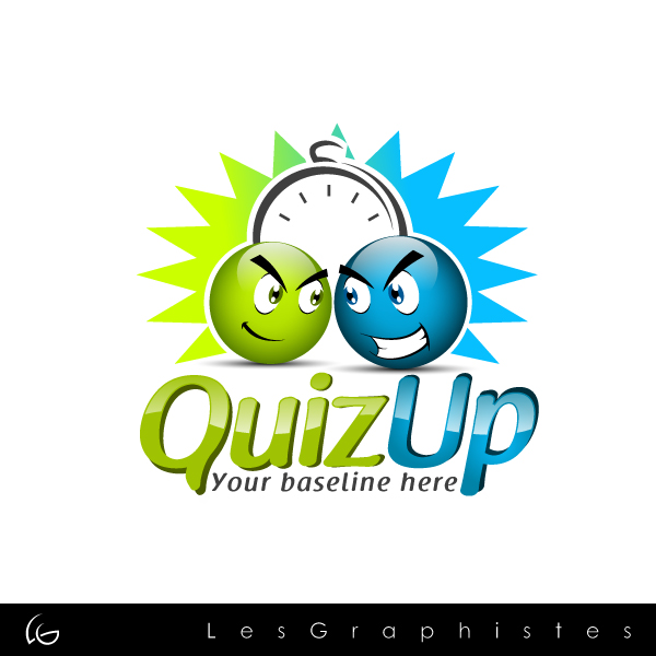 Logo Design by Les-Graphistes - Entry No. 37 in the Logo Design Contest Logo Design for QuizUp app.