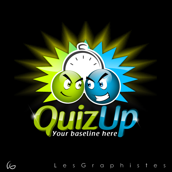 Logo Design by Les-Graphistes - Entry No. 38 in the Logo Design Contest Logo Design for QuizUp app.