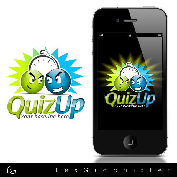 Logo Design by Les-Graphistes - Entry No. 39 in the Logo Design Contest Logo Design for QuizUp app.