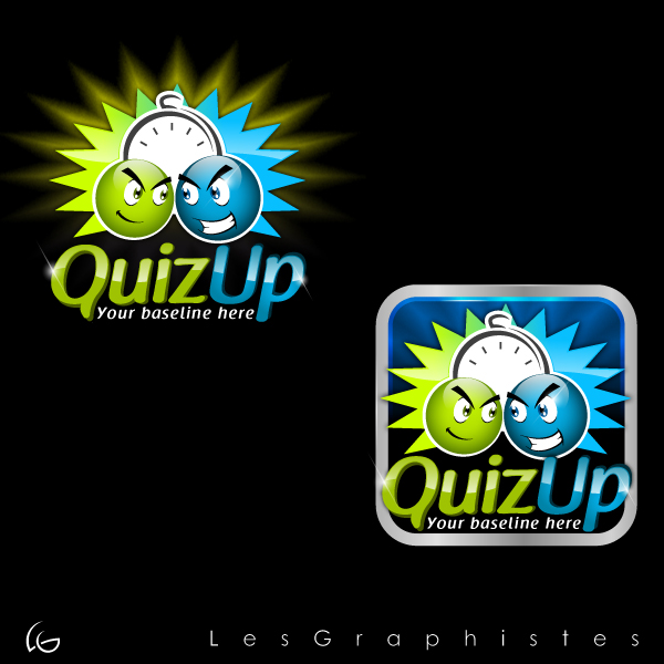 Logo Design by Les-Graphistes - Entry No. 40 in the Logo Design Contest Logo Design for QuizUp app.