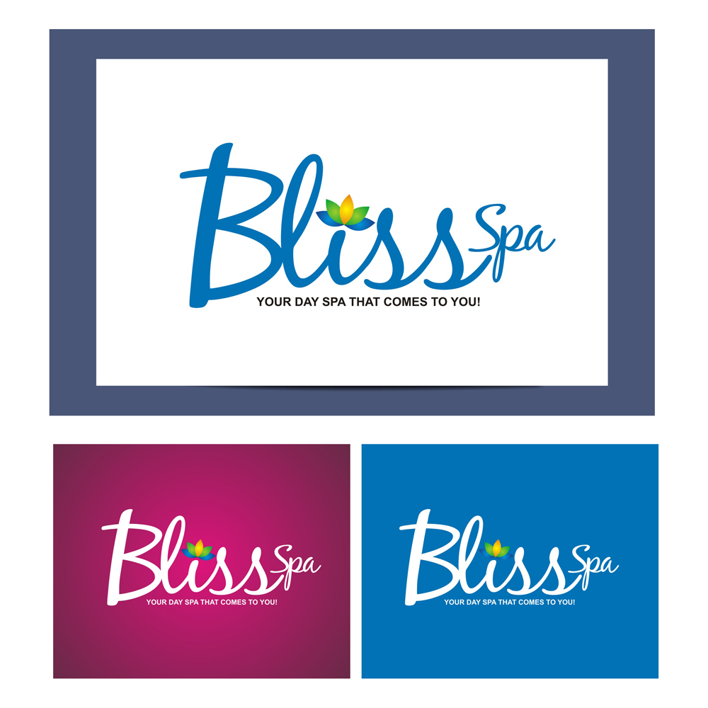 Logo Design by Julius Niro - Entry No. 4 in the Logo Design Contest New Logo Design for Bliss Spa Mobile.