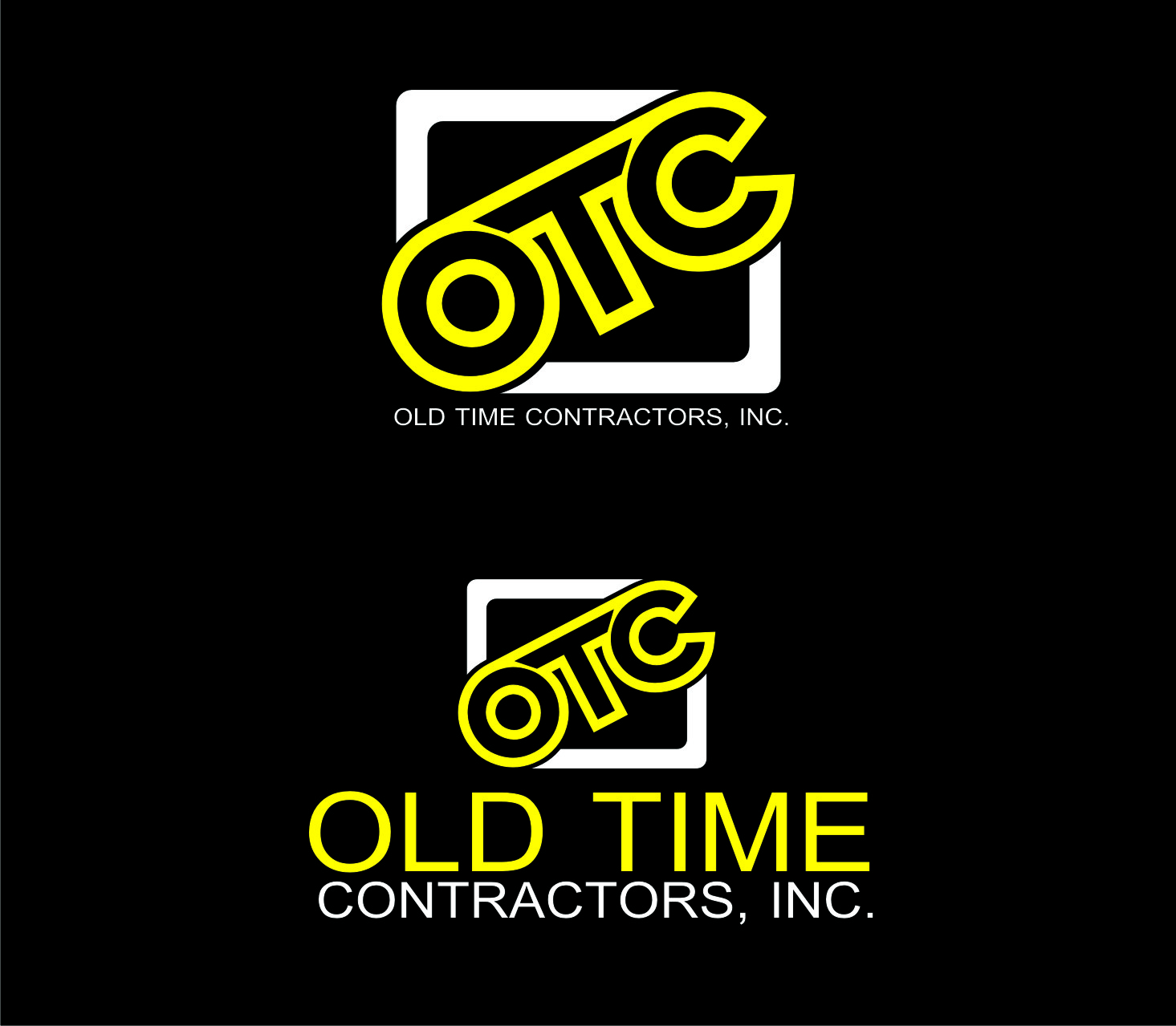 Logo Design by Private User - Entry No. 78 in the Logo Design Contest Old Time Contractors, Inc. (new brand:  OTC, Inc.) Logo Design.