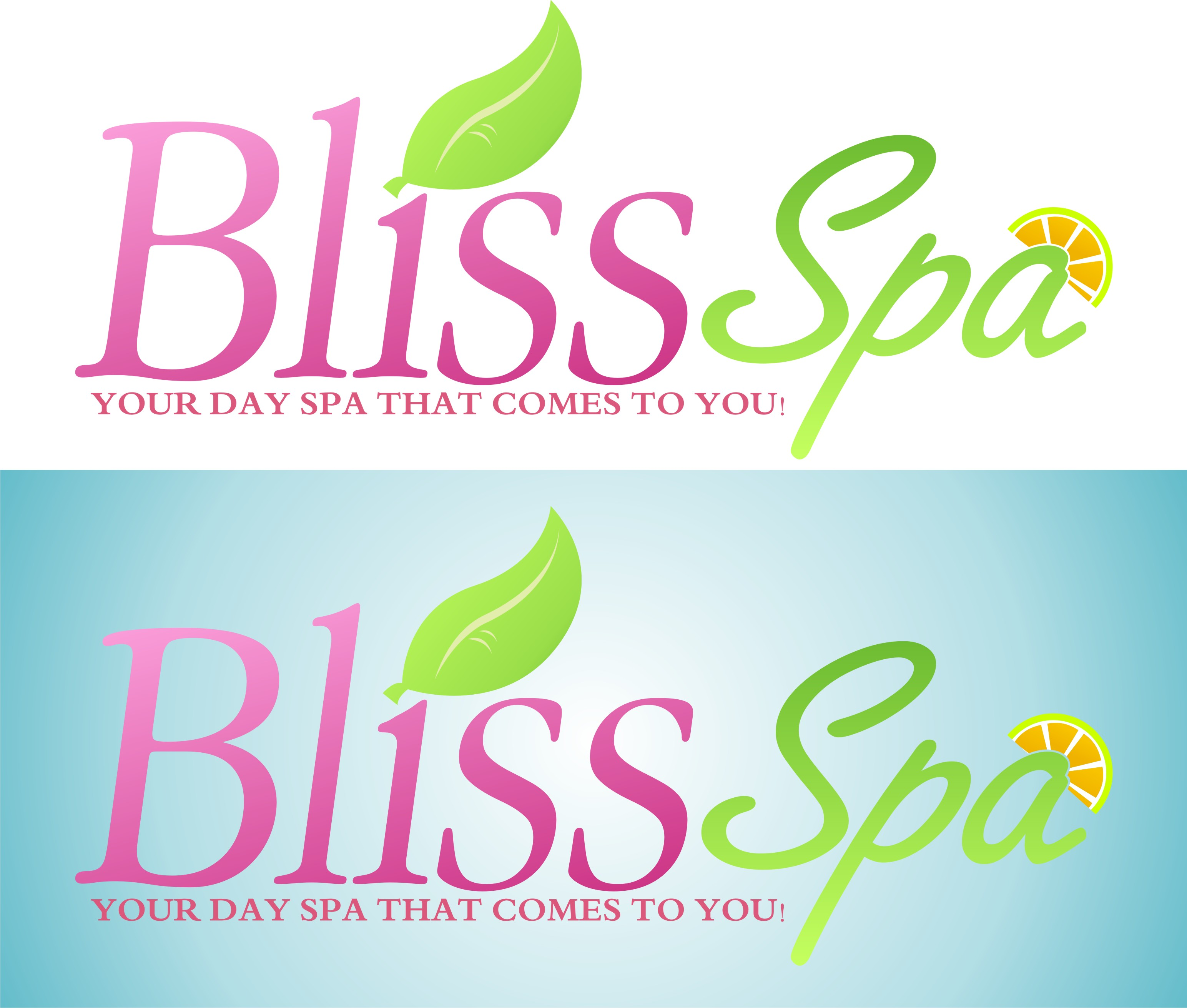 Logo Design by kambal - Entry No. 11 in the Logo Design Contest New Logo Design for Bliss Spa Mobile.
