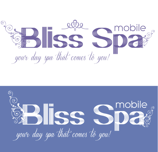 Logo Design by Jelena Kaerner - Entry No. 27 in the Logo Design Contest New Logo Design for Bliss Spa Mobile.