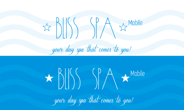 Logo Design by Jelena Kaerner - Entry No. 31 in the Logo Design Contest New Logo Design for Bliss Spa Mobile.