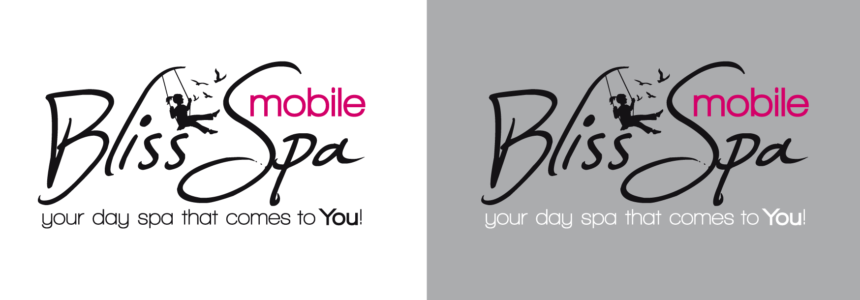 Logo Design by luna - Entry No. 53 in the Logo Design Contest New Logo Design for Bliss Spa Mobile.