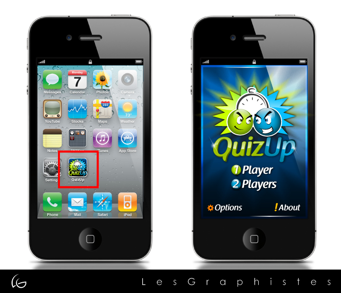 Logo Design by Les-Graphistes - Entry No. 78 in the Logo Design Contest Logo Design for QuizUp app.
