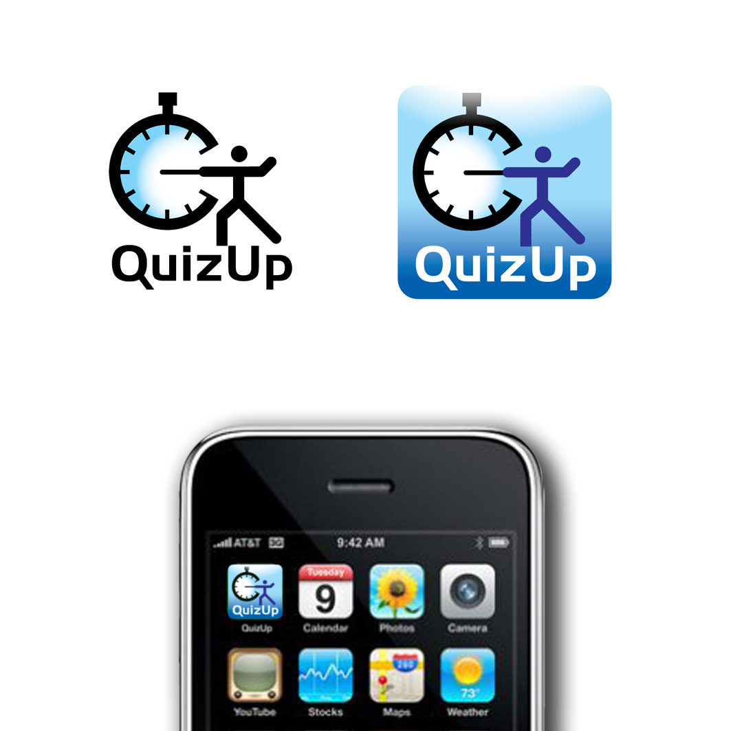 Logo Design by ARTUR PALKA - Entry No. 86 in the Logo Design Contest Logo Design for QuizUp app.