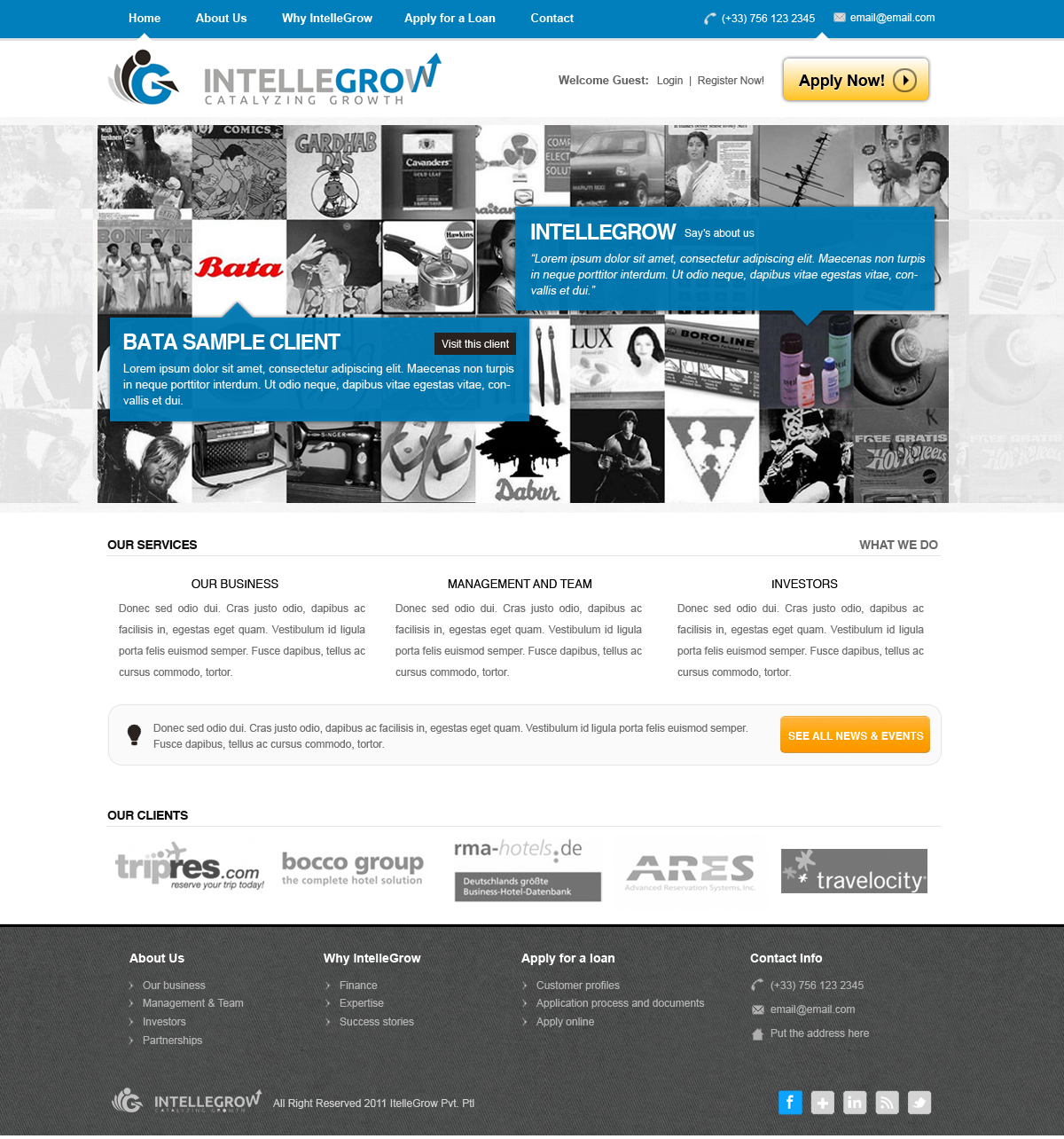 Web Page Design by rockpinoy - Entry No. 28 in the Web Page Design Contest IntelleGrow Finance Web Page Design.