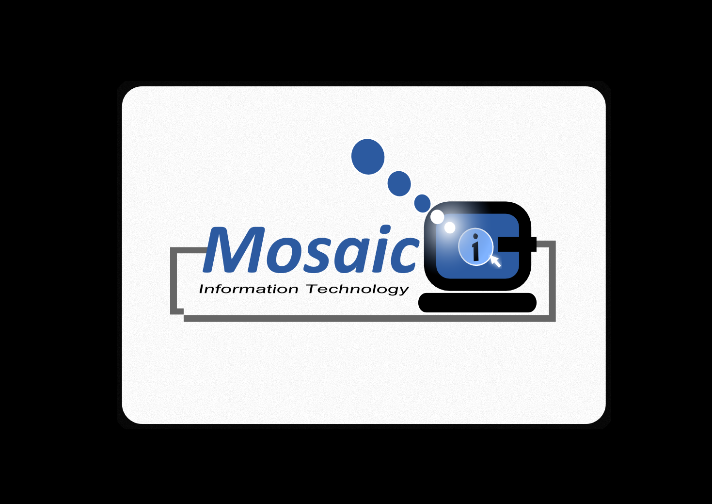 Logo Design by whoosef - Entry No. 76 in the Logo Design Contest Mosaic Information Technology Logo Design.