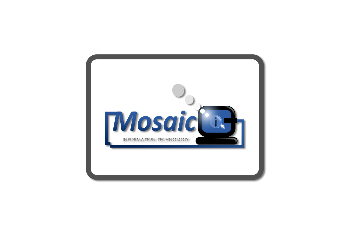 Logo Design by whoosef - Entry No. 79 in the Logo Design Contest Mosaic Information Technology Logo Design.