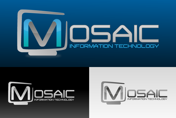 Logo Design by Rodrigo Paqueo - Entry No. 80 in the Logo Design Contest Mosaic Information Technology Logo Design.