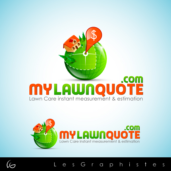 Logo Design by Les-Graphistes - Entry No. 25 in the Logo Design Contest Logo Design Needed for Exciting New Company mylawnquote.com.