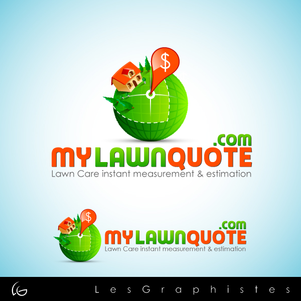 Logo Design by Les-Graphistes - Entry No. 26 in the Logo Design Contest Logo Design Needed for Exciting New Company mylawnquote.com.