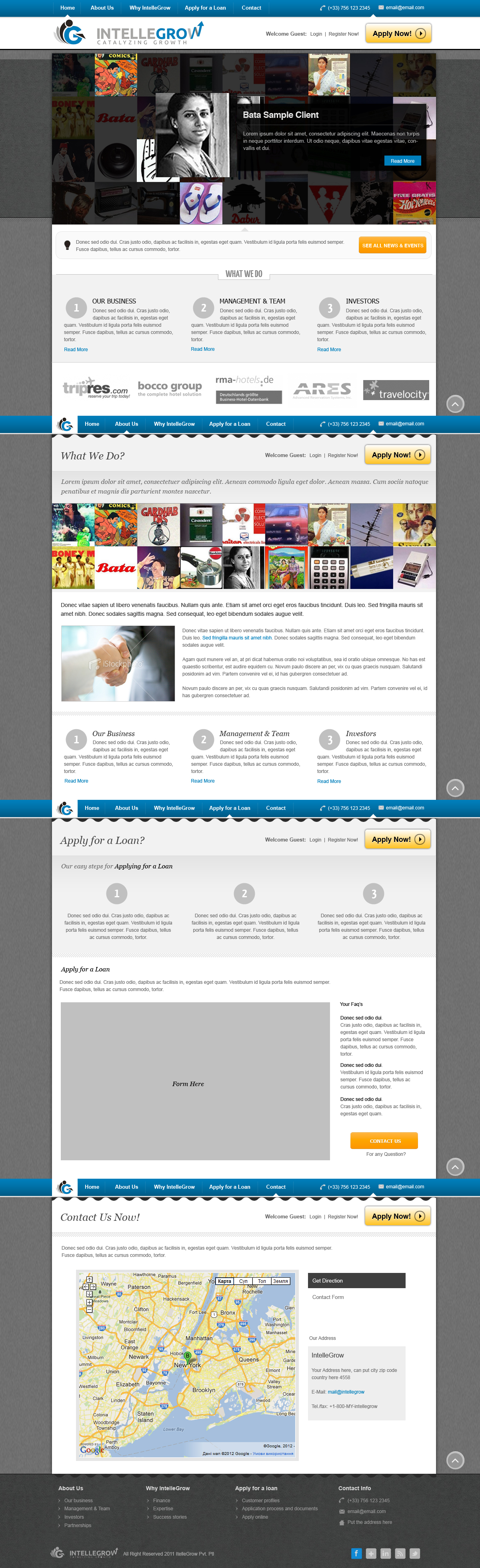 Web Page Design by rockpinoy - Entry No. 33 in the Web Page Design Contest IntelleGrow Finance Web Page Design.