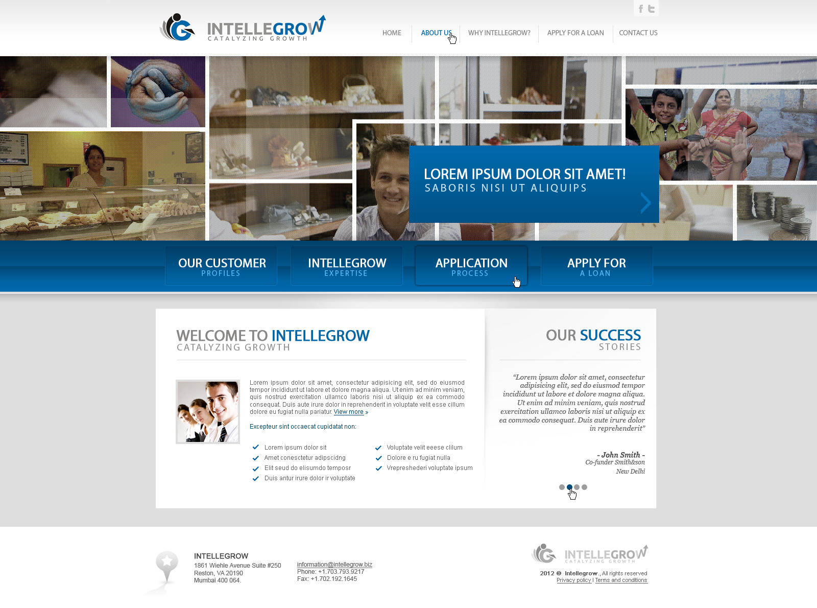 Web Page Design by John - Entry No. 34 in the Web Page Design Contest IntelleGrow Finance Web Page Design.