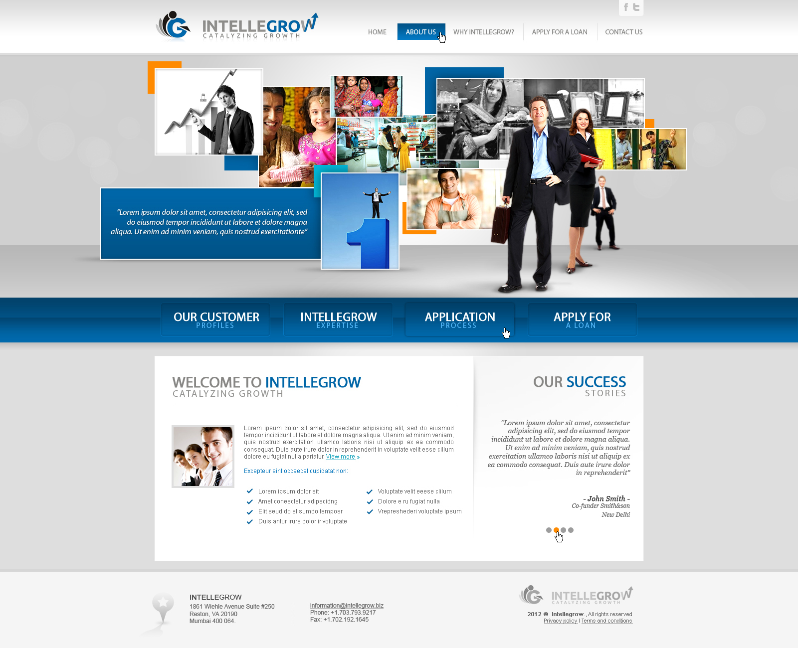 Web Page Design by John - Entry No. 35 in the Web Page Design Contest IntelleGrow Finance Web Page Design.