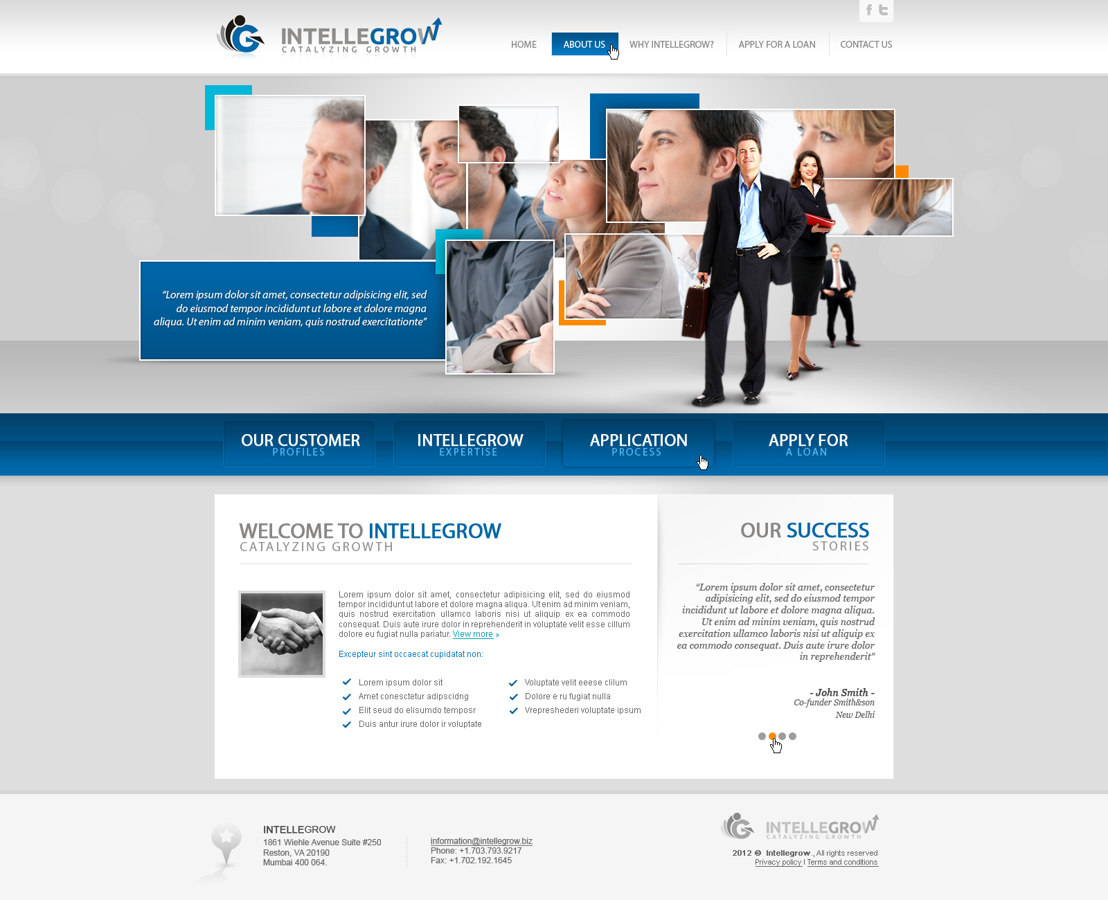 Web Page Design by John - Entry No. 36 in the Web Page Design Contest IntelleGrow Finance Web Page Design.