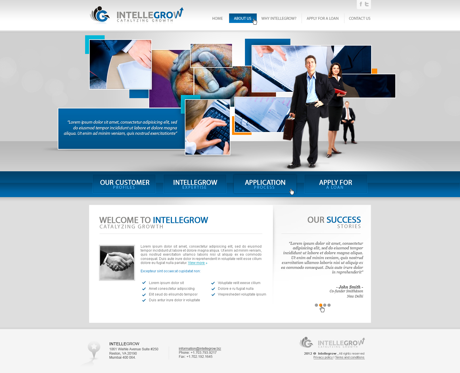 Web Page Design by John - Entry No. 37 in the Web Page Design Contest IntelleGrow Finance Web Page Design.