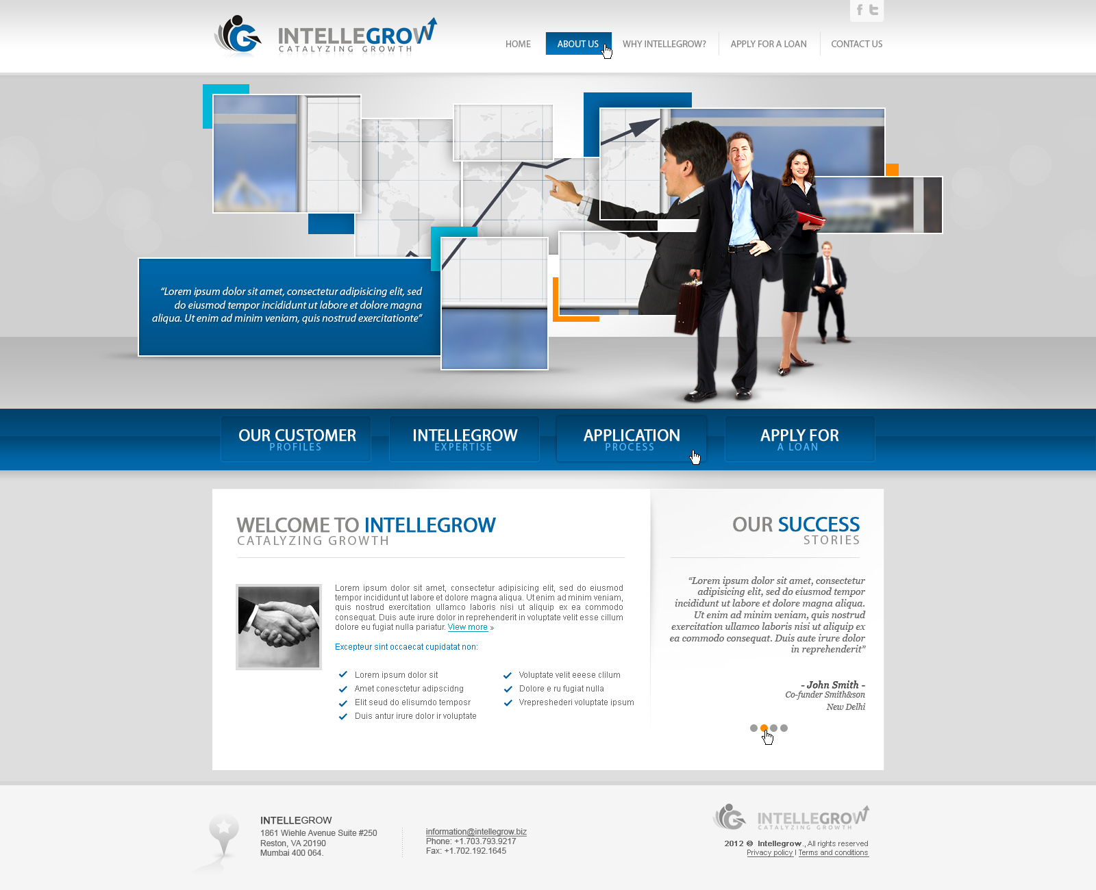 Web Page Design by John - Entry No. 38 in the Web Page Design Contest IntelleGrow Finance Web Page Design.