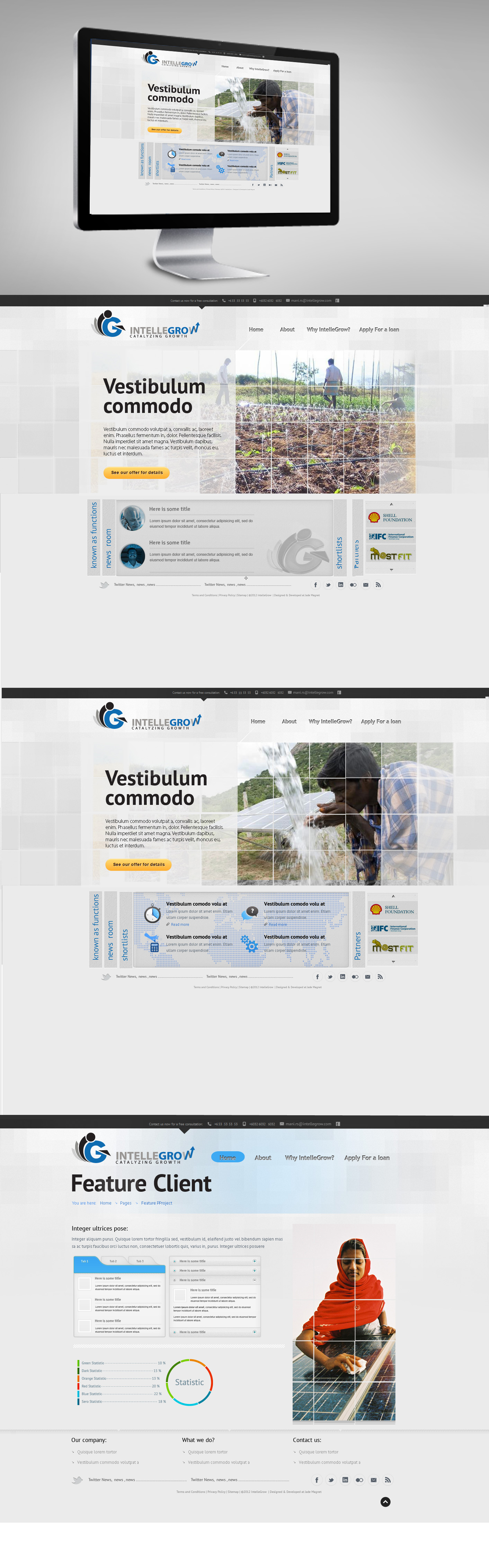 Web Page Design by Oliver WangHo - Entry No. 40 in the Web Page Design Contest IntelleGrow Finance Web Page Design.