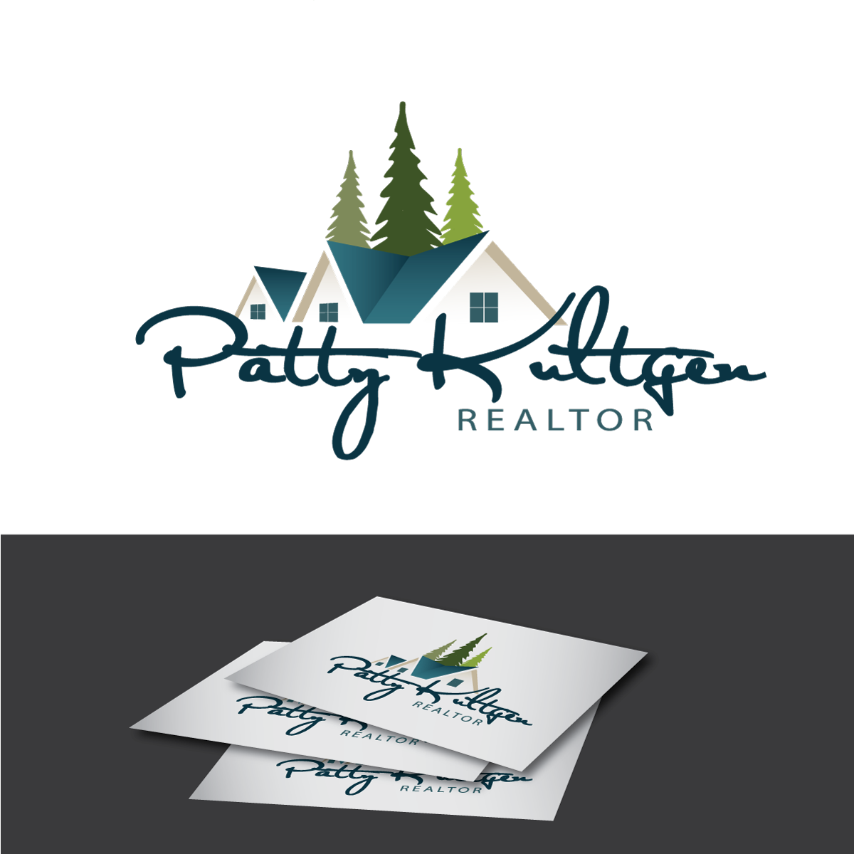 Logo Design by rockin - Entry No. 17 in the Logo Design Contest Logo Design Needed for Exciting New Company Patricia Kultgen Realtor.