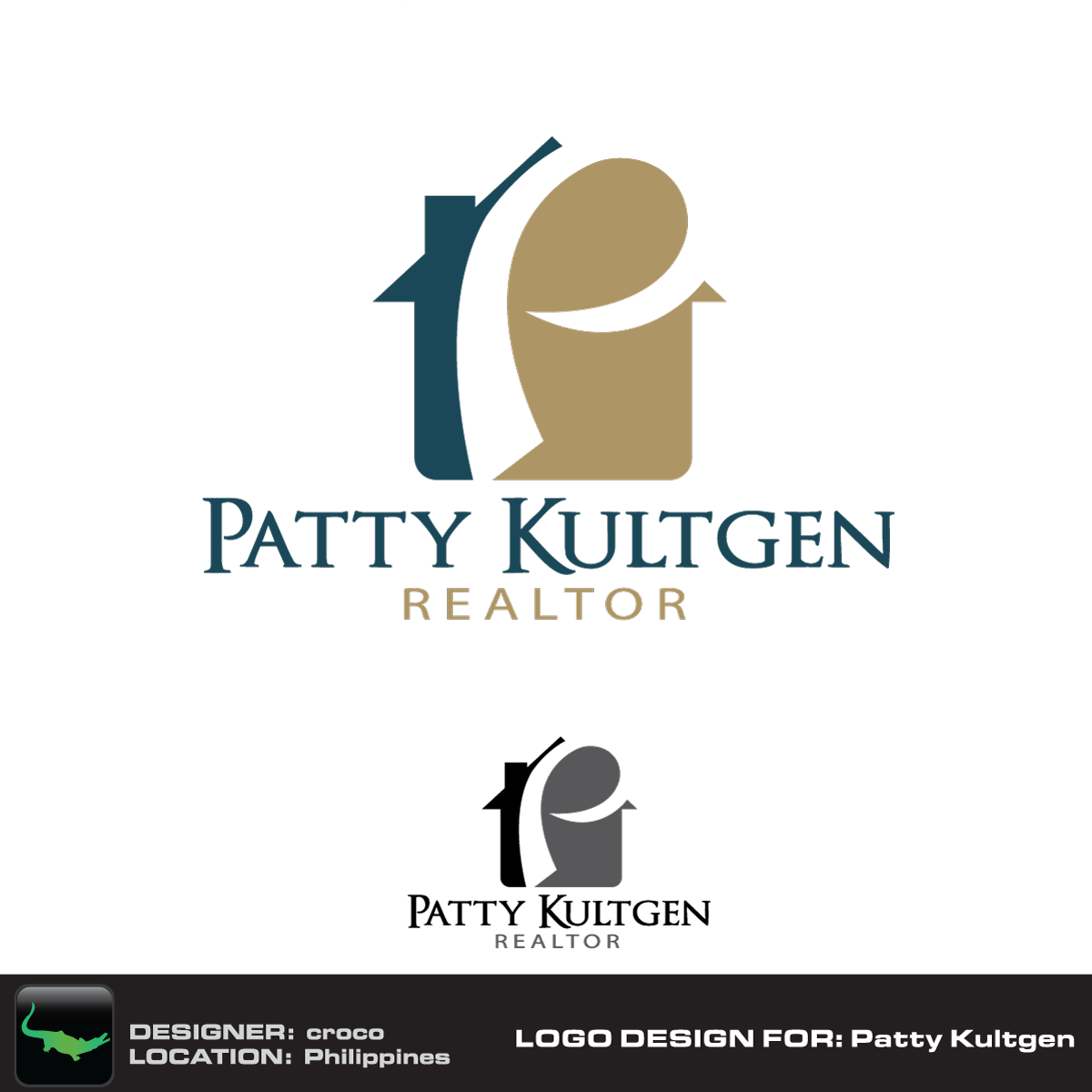 Logo Design by rockin - Entry No. 21 in the Logo Design Contest Logo Design Needed for Exciting New Company Patricia Kultgen Realtor.