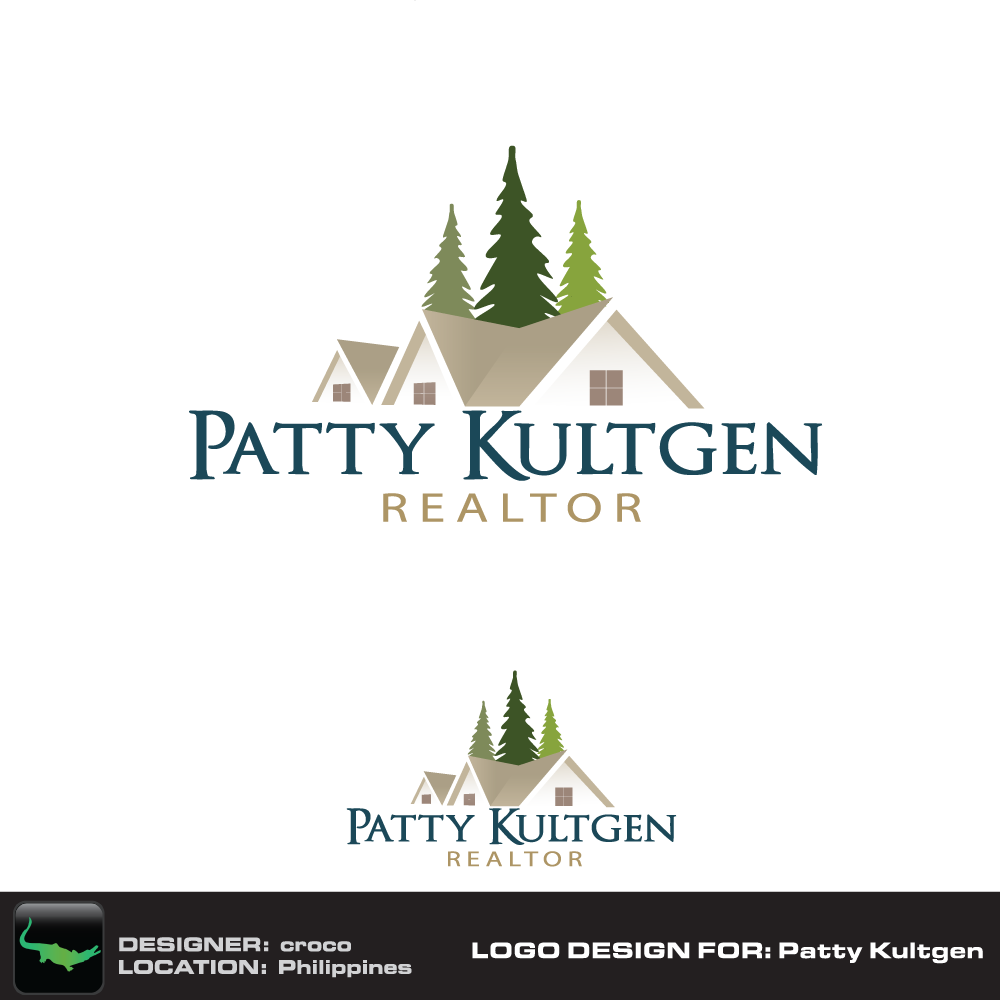 Logo Design by rockin - Entry No. 23 in the Logo Design Contest Logo Design Needed for Exciting New Company Patricia Kultgen Realtor.