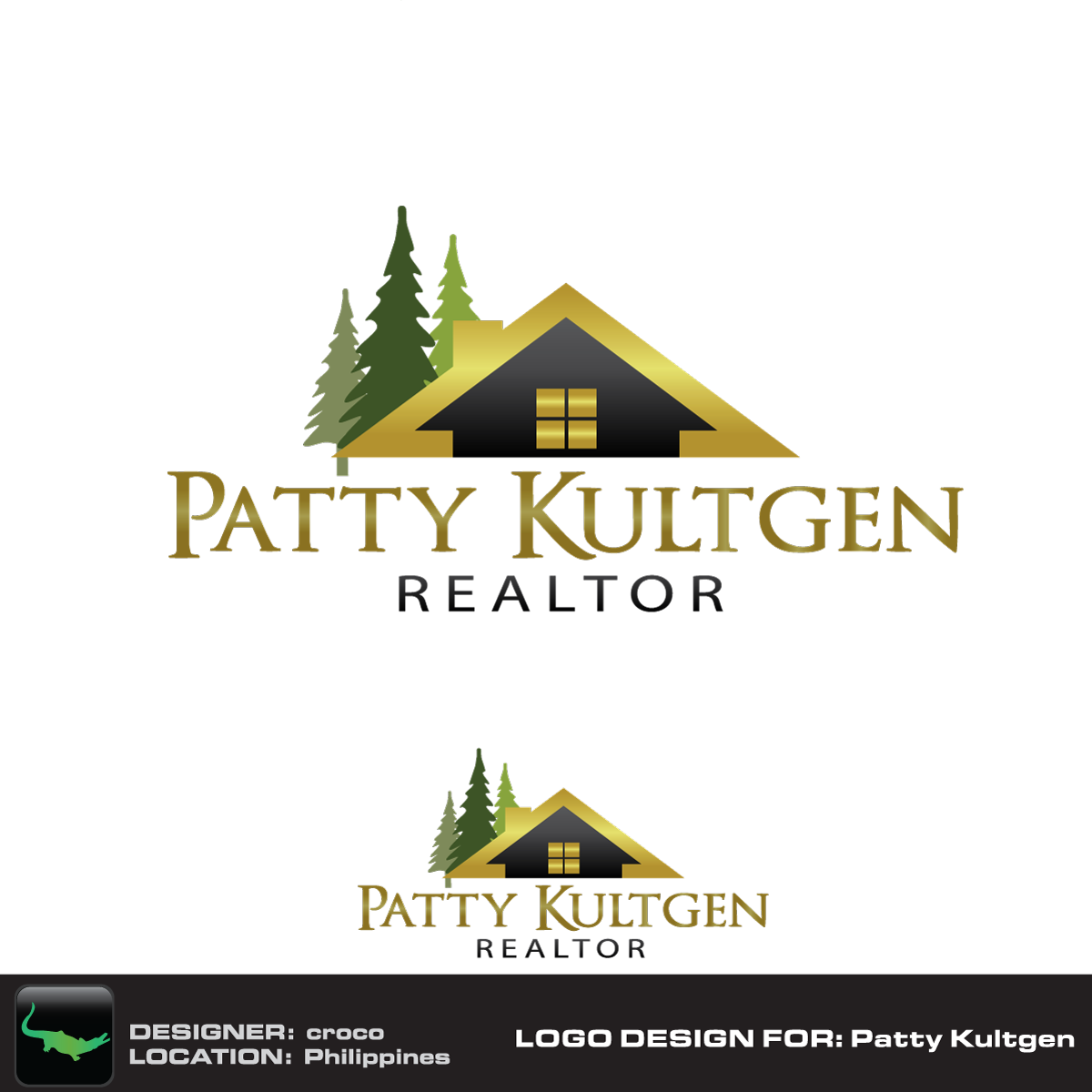 Logo Design by rockin - Entry No. 41 in the Logo Design Contest Logo Design Needed for Exciting New Company Patricia Kultgen Realtor.