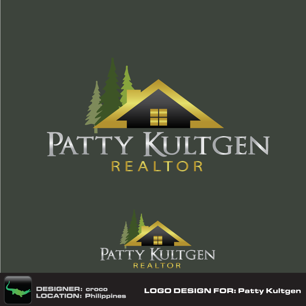 Logo Design by rockin - Entry No. 43 in the Logo Design Contest Logo Design Needed for Exciting New Company Patricia Kultgen Realtor.
