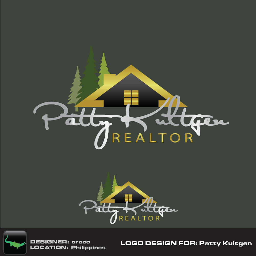 Logo Design by rockin - Entry No. 44 in the Logo Design Contest Logo Design Needed for Exciting New Company Patricia Kultgen Realtor.